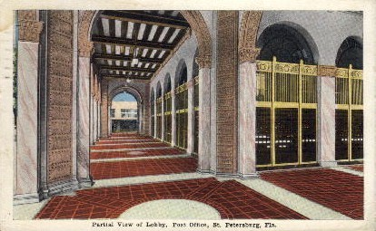 United States Post Office - St Petersburg, Florida FL Postcard