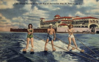 Tampa Bay Recreation Pier - St Petersburg, Florida FL Postcard