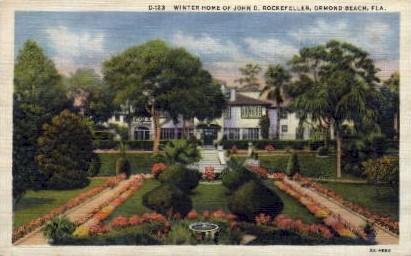 Winter Home of John D.. Rockefeller - Ormond Beach, Florida FL Postcard