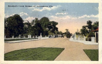 Brooker's Creek Bridge - St Petersburg, Florida FL Postcard