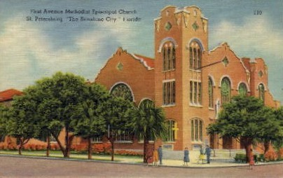 First Avenue Methodist Episcopalian Church - St Petersburg, Florida FL Postcard