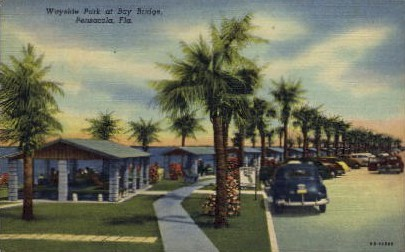 Wayside Park at Bay Bridge - Pensacola, Florida FL Postcard