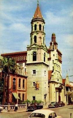 Old Roman Catholic Cathedral - St Augustine, Florida FL Postcard