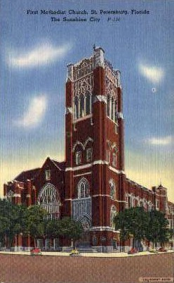 First Memorial Church - St Petersburg, Florida FL Postcard