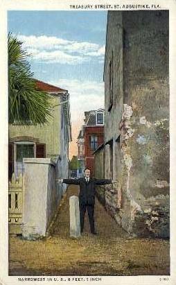 Treasure Street - St Augustine, Florida FL Postcard