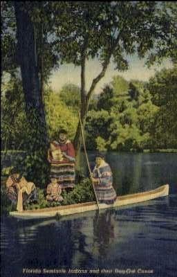 Seminole Indians - Silver Springs, Florida FL Postcard