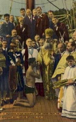 Archbishop, Epiphany Day - Tarpon Springs, Florida FL Postcard