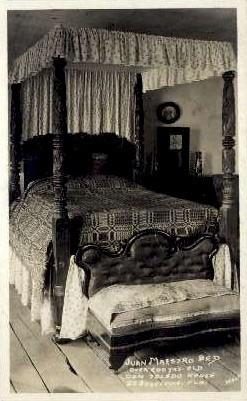 Juan Maestro Bed, Don Toledo House - St Augustine, Florida FL Postcard