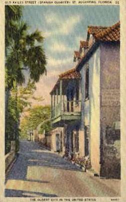 Old Aviles Street, Spanish Quarter - St Augustine, Florida FL Postcard