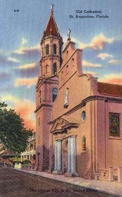 Old Cathedral - St Augustine, Florida FL Postcard