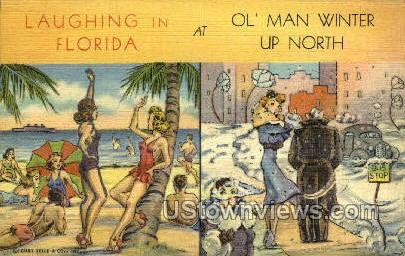 Laughing in Florida - Misc Postcard