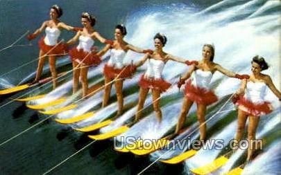 Aqua maids - Cypress Gardens, Florida FL Postcard