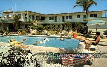 Island Queen Motel - Clearwater Beach, Florida FL Postcard