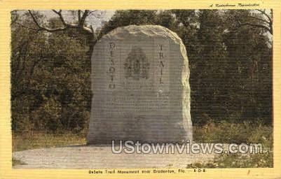 DeSoto Trail - Bradenton, Florida FL Postcard