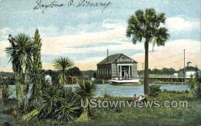 Library - Daytona, Florida FL Postcard