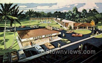 Quality Courts Motel - Silver Springs, Florida FL Postcard