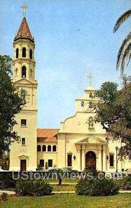 Roman Catholic Cathedral - St Augustine, Florida FL Postcard