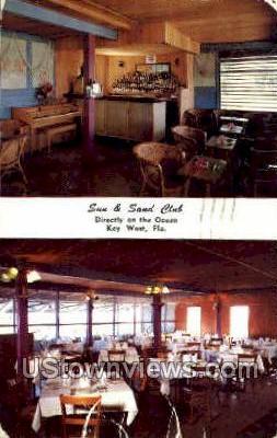 Sun & Sand Club - Key West, Florida FL Postcard