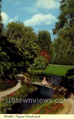 Wonderland - Cypress Gardens, Florida FL Postcard
