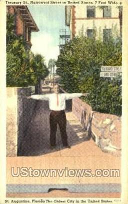 Treasury St - St Augustine, Florida FL Postcard