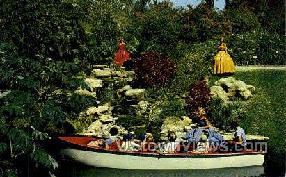Electric Boat Tours - Cypress Gardens, Florida FL Postcard