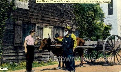 Oldest Wooden Schoolhouse - St Augustine, Florida FL Postcard