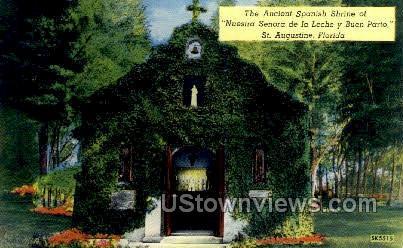 Spanish Shrine - St Augustine, Florida FL Postcard