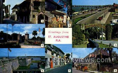 St Augustine, Florida, FL, Postcard