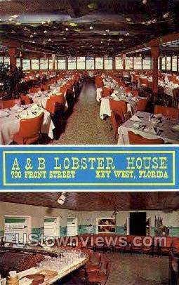 A & B Lobster House - Key West, Florida FL Postcard