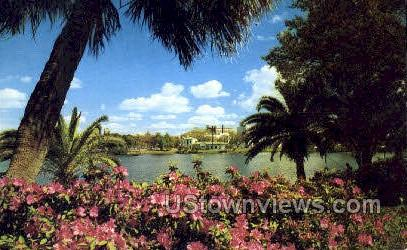 Mirror Lake - St Petersburg, Florida FL Postcard