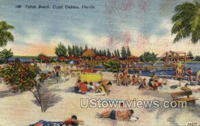 Tahiti Beach - Coral Gables, Florida FL Postcard