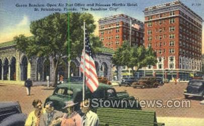 Martha Hotel - St Petersburg, Florida FL Postcard