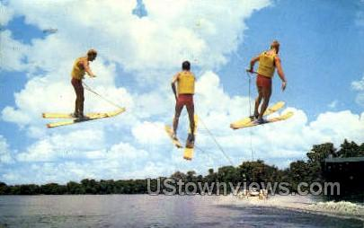 Water Skiing - Cypress Gardens, Florida FL Postcard