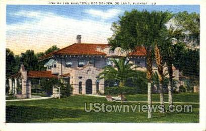 Residence - De Land, Florida FL Postcard
