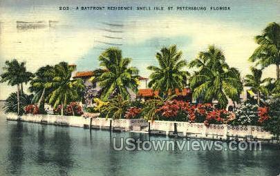 Snell Isle - St Petersburg, Florida FL Postcard