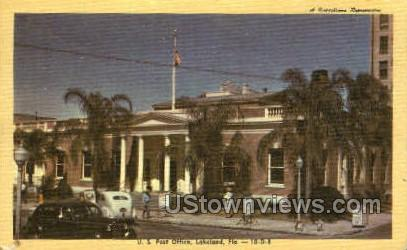 Post Office - Lakeland, Florida FL Postcard
