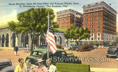 Post Office - St Petersburg, Florida FL Postcard