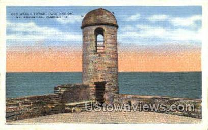 Old Watch Tower - St Augustine, Florida FL Postcard
