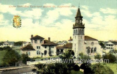 Grace Methodist Church - St Augustine, Florida FL Postcard