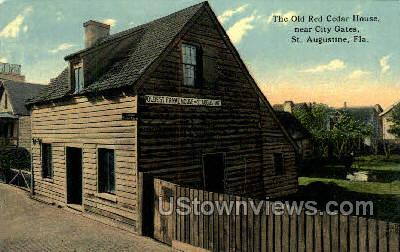 Old Red Cedar House - St Augustine, Florida FL Postcard