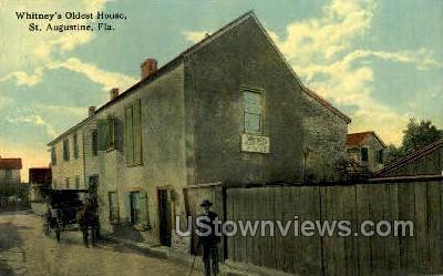 Whitney's Oldest House - St Augustine, Florida FL Postcard