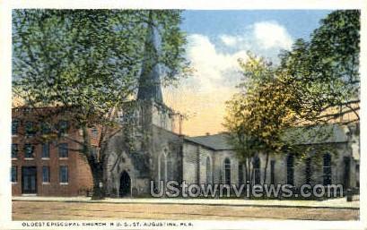 Oldest Episcopal Church - St Augustine, Florida FL Postcard