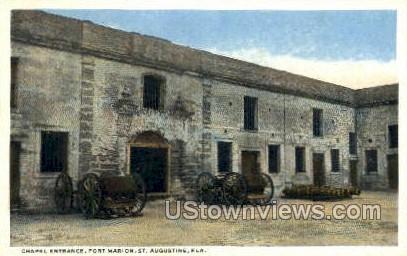Fort Marion - St Augustine, Florida FL Postcard