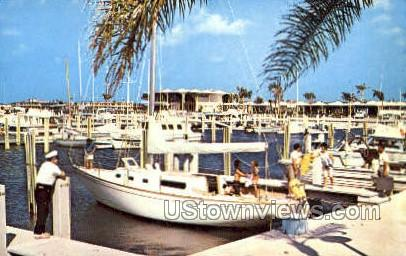 Yacht Basin - St Petersburg, Florida FL Postcard