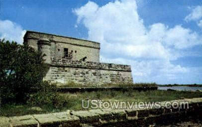 Fort Mantanzas - St Augustine, Florida FL Postcard