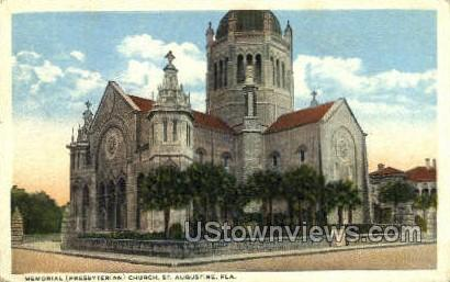 Memorial Church - St Augustine, Florida FL Postcard