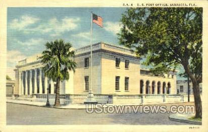 Post Office - Sarasota, Florida FL Postcard