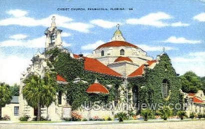 Christ Church - Pensacola, Florida FL Postcard