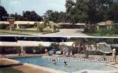 San Marco Court - St Augustine, Florida FL Postcard
