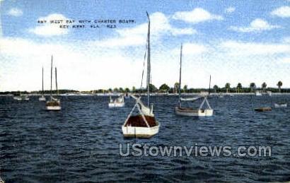 Key West Bay - Florida FL Postcard